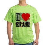 I Love Byteland Green T-Shirt