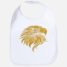 Golden Eagle Head Baby Bib