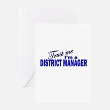 Trust Me I'm a District Manag Greeting Cards (Pk o