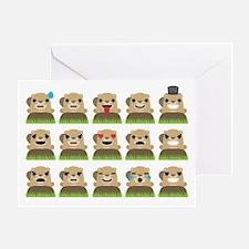 Cute Groundhog birthday Greeting Card