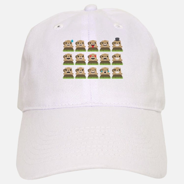 groundhog emojis Baseball Baseball Cap
