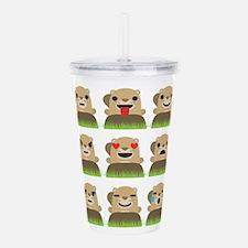 groundhog emojis Acrylic Double-wall Tumbler