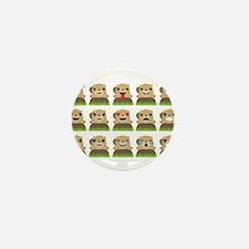 groundhog emojis Mini Button