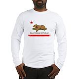 Paddling surf bear california republic Long Sleeve T-shirts