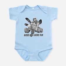 More Mud More Fun on an ATV (B/W) Infant Bodysuit