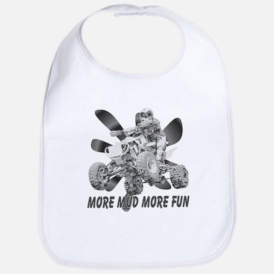 More Mud More Fun on an ATV (B/W) Bib