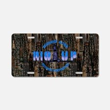 RIG UP CAMO Oilfield Aluminum License Plate