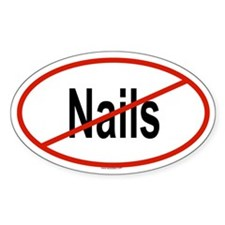 NAILS Oval Decal