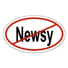 NEWSY Oval Decal