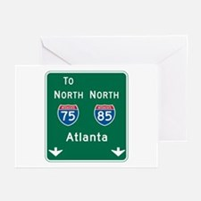 Atlanta, GA Highway Sign Greeting Cards