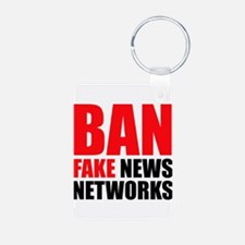 Ban Fake News Networks Keychains