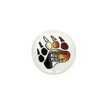 BEAR PRIDE PAW/SCRATCH/SNIFF Mini Button