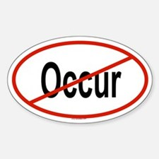 OCCUR Oval Decal