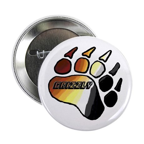 """BEAR PRIDE PAW/GRIZZLY 2.25"""" Button"""