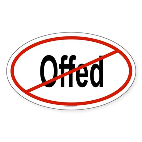 OFFED Oval Sticker