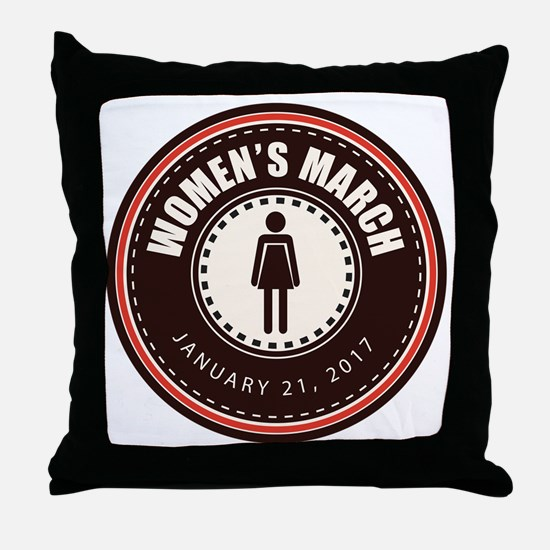 Women's March 2017 Throw Pillow