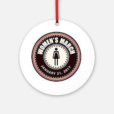 Women's March 2017 Round Ornament