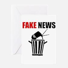 Fake News Pile of Garbage Greeting Cards