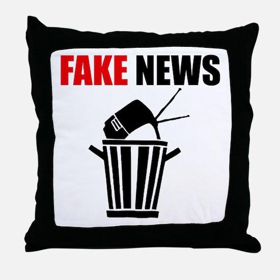 Fake News Pile of Garbage Throw Pillow