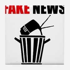 Fake News Pile of Garbage Tile Coaster