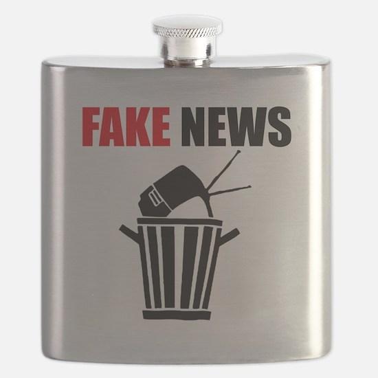 Fake News Pile of Garbage Flask