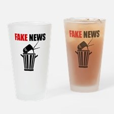 Fake News Pile of Garbage Drinking Glass