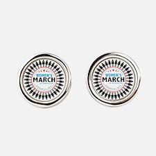Womens March Round Cufflinks