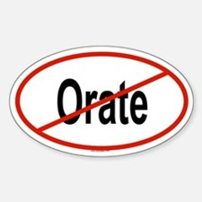ORATE Oval Decal