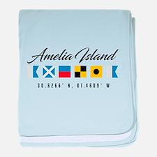 Amelia Island Nautical Flags baby blanket