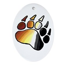 BEAR PRIDE PAWS/TONES Oval Ornament