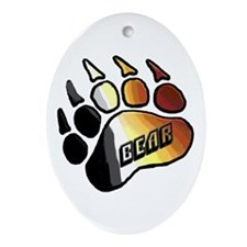 BEAR PRIDE PAW/BEAR Oval Ornament