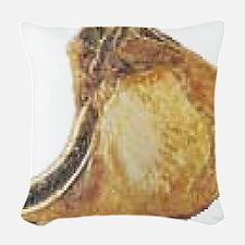 Pork Chop Woven Throw Pillow