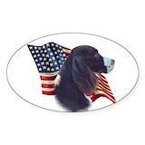 English springer spaniel w american flag 10 Pack