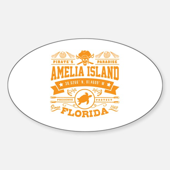 Cute Island Sticker (Oval)