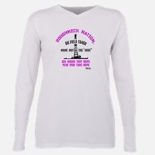 TRASH Oilfield Plus Size Long Sleeve Tee