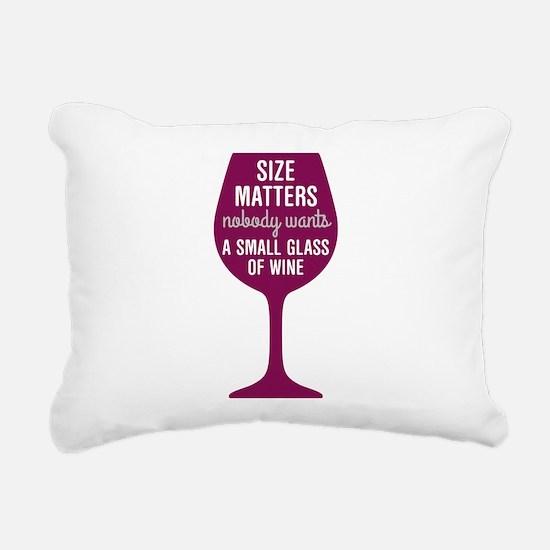 Wine Size Matters Rectangular Canvas Pillow