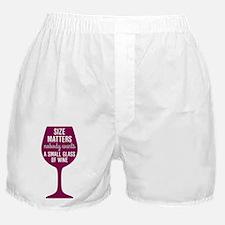Wine Size Matters Boxer Shorts