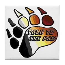 BEAR PRIDE PAW/TALK 2 THE PAW Tile Coaster