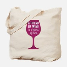 Friend of Wine Tote Bag