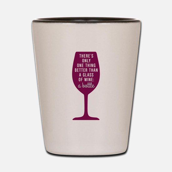 Glass Of Wine Humor Shot Glass