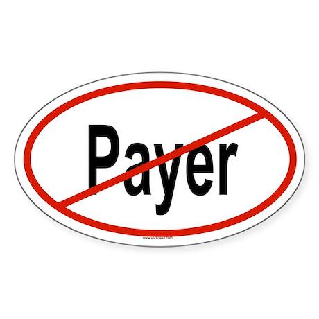 PAYER Oval Sticker