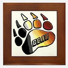 BEAR PRIDE PAW/BEAR Framed Tile