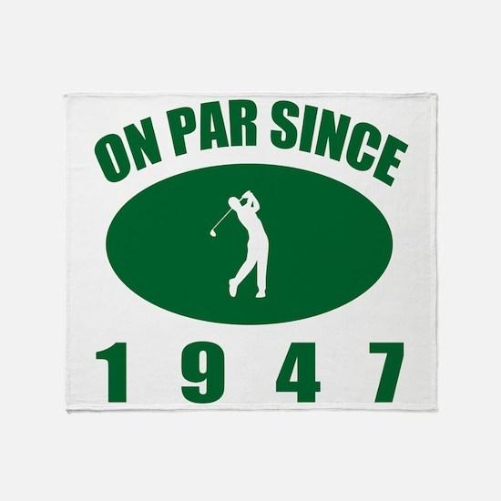 1947 Golfer's Birthday Throw Blanket