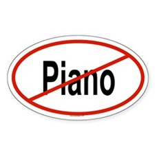 PIANO Oval Decal