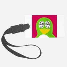Hypnotized Green Penguin Luggage Tag