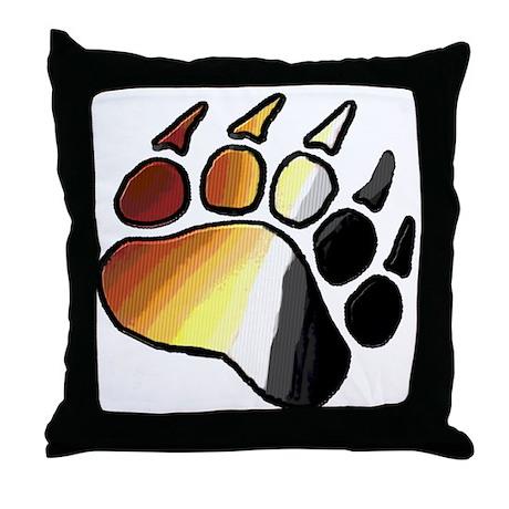 BEAR PRIDE PAWS/TONES Throw Pillow
