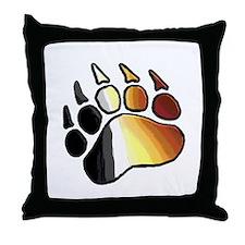 BEAR PRIDE PAW2/TONES Throw Pillow