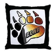 BEAR PRIDE PAW/BEAR Throw Pillow