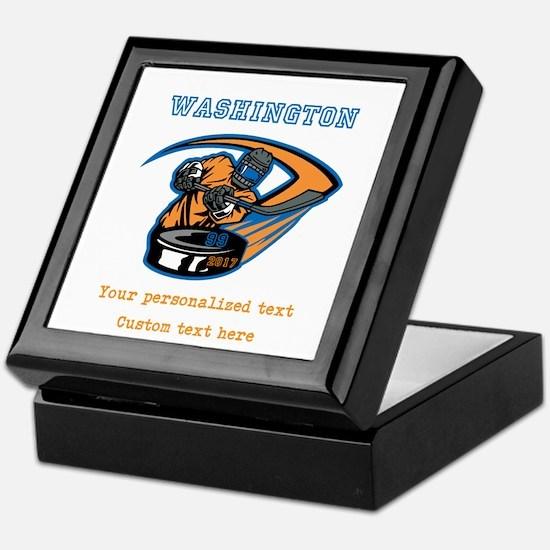 Hockey Personalized Keepsake Box