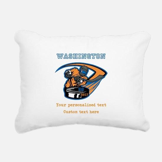 Hockey Personalized Rectangular Canvas Pillow